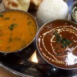 インド料理インディゴ - 豆カレー&茄子とチキンのカレー