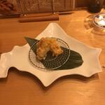 おしどり - とうもろこしの天ぷら
