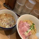 中華そば 流川 - 味玉つけ麺