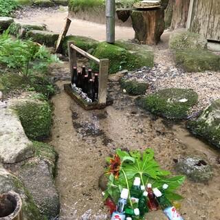 山菜料理 みたき園 - ドリンク写真:小川にラムネとビール