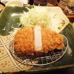 銀座平田牧場 - 三元豚厚切りロースかつ膳1700円