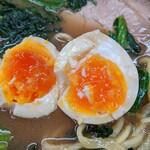 らーめん武蔵家 - 半熟玉子     想像以上の仕上がりで美味でした。