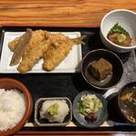 133942151 - アジフライ定食+海鮮漬け小鉢