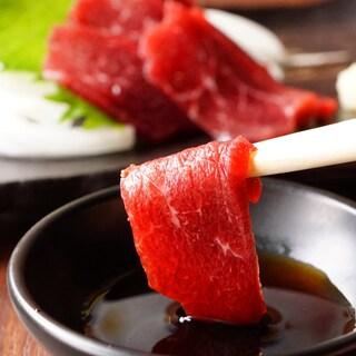 極上の馬刺し(赤身)を九州醤油でお楽しみください!
