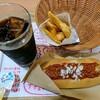 ハンズバーガー - 料理写真:ハンズチリドッグ ポテトSセット