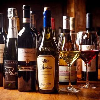 80種以上のワインを店内にワインセラーに!