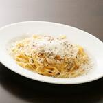 自家製パンチェッタと地養卵のスパゲッティ カルボナーラ