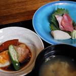 旬菜 青山 - 豚角煮、刺身