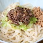 山のうどん屋 - 肉ぶっかけうどん¥550 納豆¥50