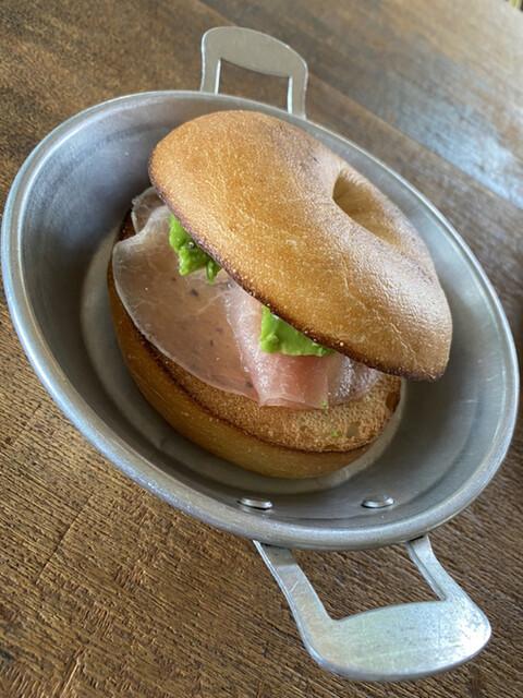 バンビーノカフェ - もう少し食べたくて追加した ベーグルサンド