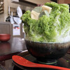 布穀薗 - 料理写真:斑鳩産生麩と大和抹茶のかき氷練乳添え