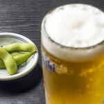 昭和や - 生ビールと枝豆