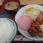 叶食堂 - 盛り合わせ定食 750円
