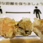 味の笛 - シューマイは先っぽから海鮮・高菜・黒豚の順