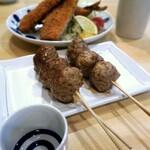 宝山 いわし料理 大松 - いわしのハンバーグはちょい辛のタレが絡んで丁度A