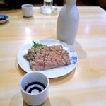 宝山 いわし料理 大松 - 旨みが凝縮されたなめろうは濃いめの味つけ