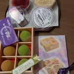 とようけ茶屋 - ①豆乳プリン(¥220)②豆乳ヨーグルト(¥160) ③とようけ饅頭(6個入¥1000)