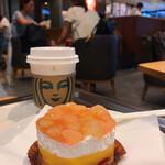 スターバックス・コーヒー - ピーチ&マンゴーケーキ、ドリップコーヒー
