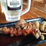 水炊き・焼き鳥 とりいちず - かわ串ノーマル&ホット