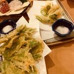 瑚庵 - 明日葉の天ぷら