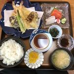 天政 - 料理写真:天婦羅定食(松)