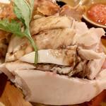 シンガポール海南鶏飯 - 蒸し
