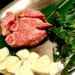 134765 - これが100gヒレステーキコースのお肉~!