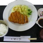 かわら亭 - トンカツ定食