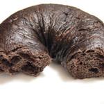 グランディール - ベーグル ショコラの断面。