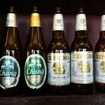 クルーズダイナー - タイのビール(シンラガーとチャンビール)