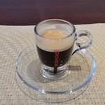 リストランテファンタジスタ - エスプレッソ。ドリンクは、コーヒー、紅茶、エスプレッソの中から選べます。