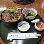 13402402 - ビフテキ丼+ミニ蕎麦