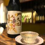 134024045 - 贅沢にも秋田一白水成の冷やひれ酒を所望                       いやコレはヤバイ!早速自宅でも仕込んでみました!