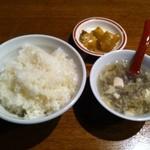 13403597 - ライスとスープにザーサイ