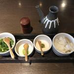 134041096 -    山椒・鰻のたれ・薬味                         (ねぎ・わさび・柚子こしょう・大根おろし)
