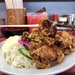 一楽ラーメン - 唐揚げ定食700円