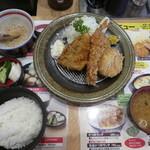 かつグルメ - 料理写真:ミックスフライ定食