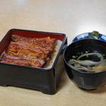 川千家 - 2012.6 季節のランチ(3,500円)の内、うなぎ半丼肝吸い付き