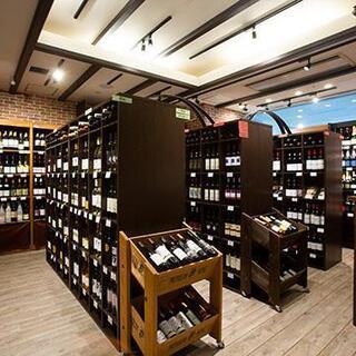 ワインショップが併設
