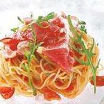ピッツァ サルヴァトーレ クオモ - パルマ産生ハムとトマトの冷製パスタ