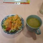 13407841 - サラダ、スープ