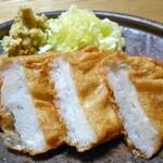 島本蒲鉾店 - 皮天ぷら(ちょっと焼いて おろしショウガ・ネギ・醤油で)