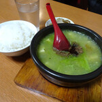 134076631 - 緑の麻婆豆腐&ライス・ザーサイセット1000円