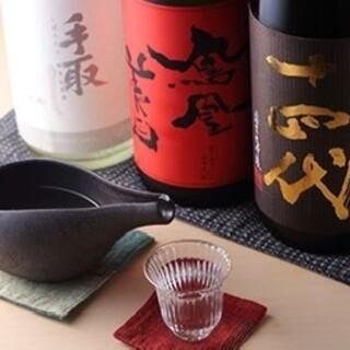 季節の日本酒をはじめ、多彩なお酒を取り揃えております