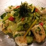 かたらいや - 料理写真:仙波の有名な豆腐を使ったサラダは、絶品です。