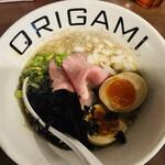 オリガミ - 味玉煮干しラーメン