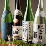 京ダイニング 上七軒 - ドリンク写真:地酒は日本各地のものを10種類以上揃えています