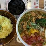 スープカレー トムトムキキル - 特効スタミナラムキーマのスープカレー
