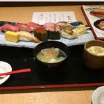 寿司 魚がし日本一 - 日本橋握り10貫1,000円(税込)