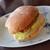 プス - 料理写真:フィッシュバーガー。パンがもちっとして美味しい。